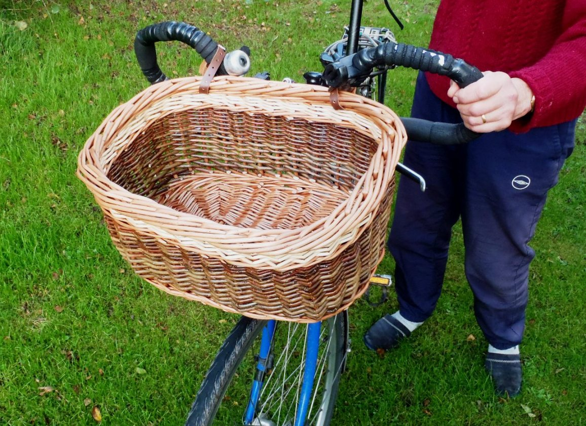 The bicycle basket.
