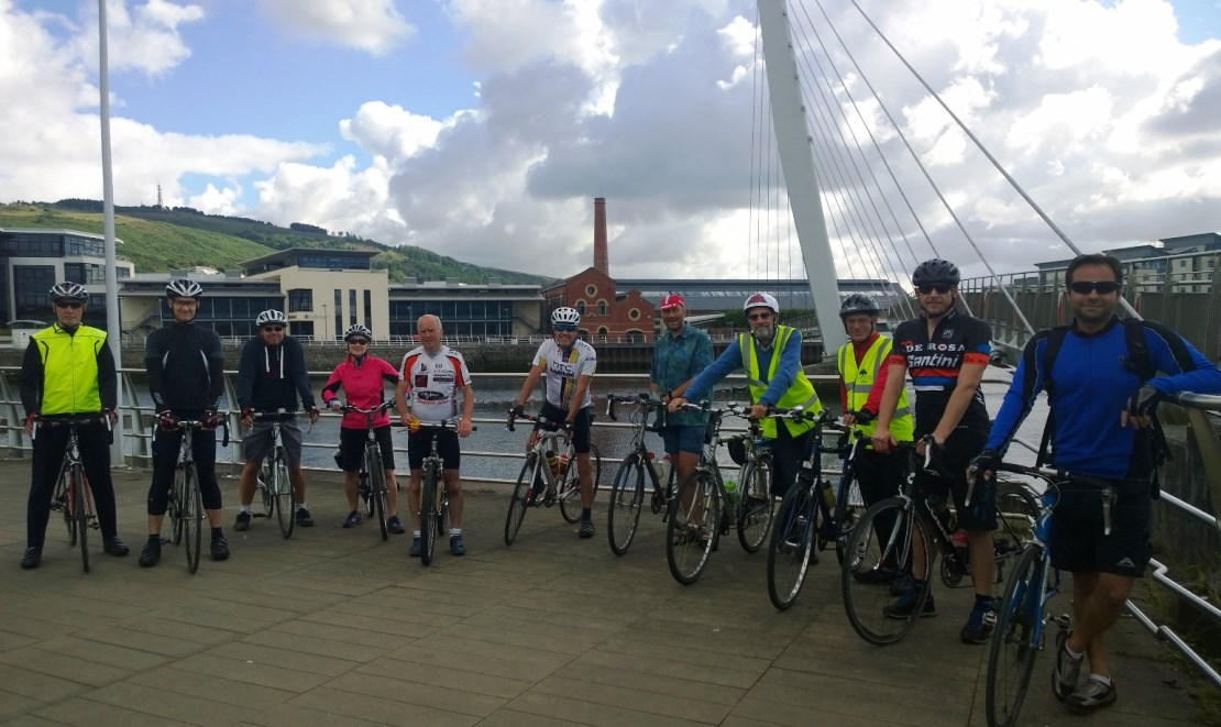 Ride 22 assembles on the Sail Bridge.