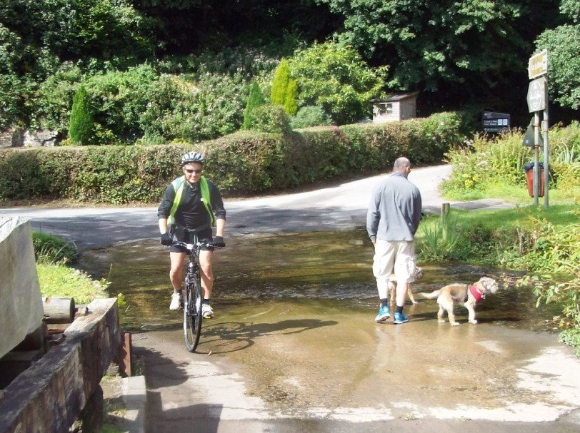 Ride 4: Crossing Parkmill ford.