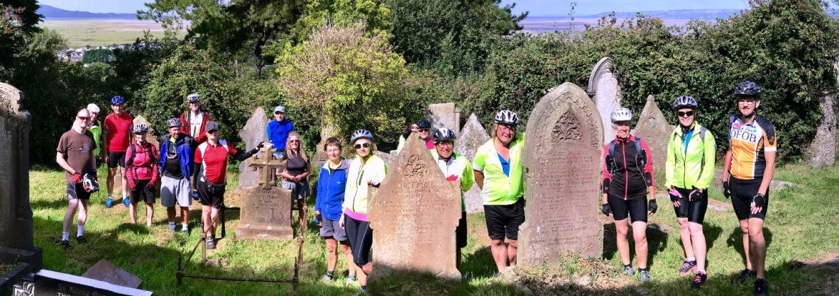 Estuary Wide riders visit graveyard.