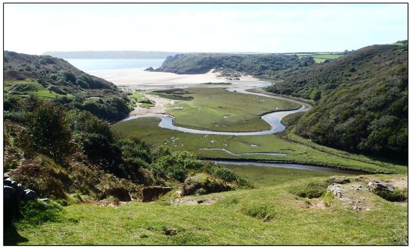 3 Cliffs Bay from Castle